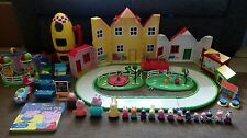 Peppa Pig Bundle Space Rocket Road Car FunFair School House Lots of Figures