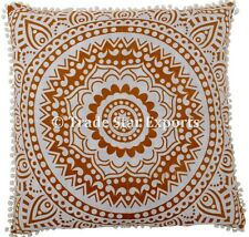 Large Euro Sham Mandala Pillow Case 26x26 Home Decor Square Throw Cushion Cover