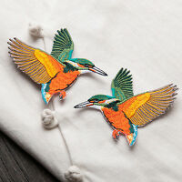 2pcs Birds  Embroidered Sew Iron on Patch Badge Bag Clothes Dress Applique AU