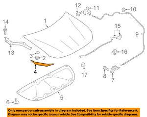 SUBARU OEM 13-16 BRZ Hood-Front Seal Gasket 57252CA000