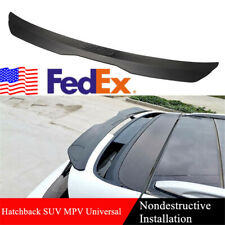 Us Matte Black Car Rear Roof Luggage Spoiler Lip For Hatchback Suv Mpv Modified Fits Toyota Yaris