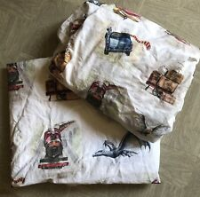 Pottery Barn Kids TWIN Flat Fitted Harry Potter Storybook Organic No Pillow Case