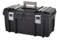 Husky Black Heavy 22 In. Rugged Built Tool Box Storage With New Metal Latches