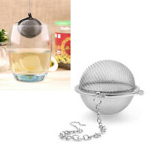 Stainless Steel Tea Infuser Spice Ball Strainer Mesh Tea Filter Spoon Lock Chain
