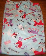 """Girls Pajama Pants sz 12 OLD NAVY Blue w/Cats """"CHILLY WHISKERS"""" Presents NEW"""