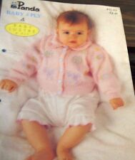 Panda Baby Knitwear  in Baby Lustre 4ply pattern leaflet no. PG 43 sizes 3-12 mo