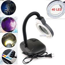 5X 10X LED Magnifying Light Tabletop Gooseneck Magnifier Lamp Desk Adjustable