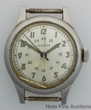 Vintage 1940s Military Longines Mens Wrist Watch to Fix
