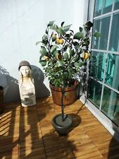 GORGEOUS MID CENTURY ITALIAN TOLE IRON LEMON TREE WITH FRUITS AND LEAVES