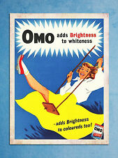 vintage retro style Omo advert poster image metal sign kitchen wall door plaque
