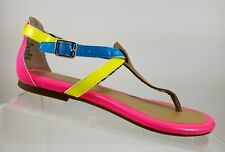 Sperry TopSider Pink Blue Yellow Gladiator Thong Flats Flipflop Sandals Women 6M