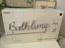 NEXT White Portabello Bathroom Set - New
