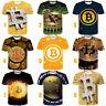 Hipster Retro 3D Print Bitcoin Women Men T-Shirt Short Sleeve Tee Plus Size Tops