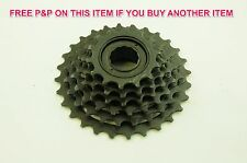 6 Speed roue LIBRE BLOC 14/28 screw on Index Cassette MTB Adult or Childs Bike