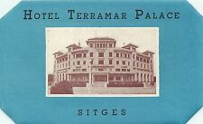 SITGES CATALONIA SPAIN HOTEL TERRAMAR PALACE VINTAGE LUGGAGE LABEL