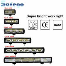 5/7/9/12/17/20 inch LED Bar Light Work Light Spot Beam For Car Off road Truck