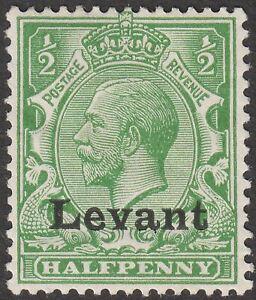 British Levant 1916 KGV ½d Green Overprint Mint SG S1 cat £70