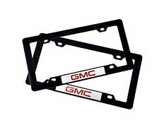 X2 GMC Sticker + Plastic License Plate Frame For GMC SIERRA DENALI ACADIA YUKON