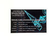 Lego Star Wars 7181 Tie Interceptor UCS replacement sticker