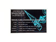 Lego Star Wars 7181 Tie Interceptor UCS replacement sticker