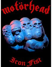 MOTORHEAD 'IRON FIST' textile poster flag, officially licensed