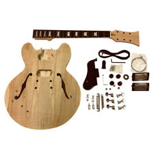 GDES 22 L gauche Cobán SEMI HOLLOW Spalted Maple Veneer Guitar À faire soi-même Kit Extra Cordes