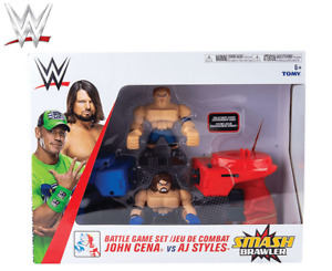 WWE Smash Brawlers John Cena vs AJ Styles Battle Game Playset