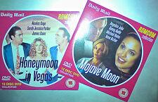 HONEYMOON IN VEGAS (Nicolas Cage)/ MOJAVE MOON (Angelina Jolie) 2 Promo DVDs