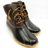 Sperry Top Sider Saltwater Womens Size 7 Brown Leather Rain Duck Boots STS91176