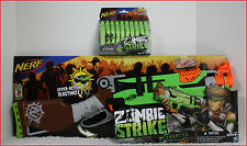 LOT 2- Nerf ZOMBIE Strike SLINGFIRE RIFLE Gun LIMITED + Drum & Clip + 36 Darts
