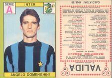 FIGURINA CALCIATORI PANINI A-1968/69*INTER,ANGELO DOMENGHINI *NUOVA,PERFETTA