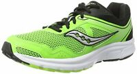 Saucony Mens GRID COHESION Low Top Lace Up Trail Running, Lime/Black, Size 12.0