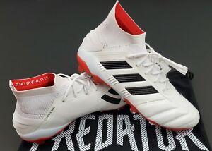 Adidas Predator Mania 19.1 FG ADV, White/Black/Red, Size 8.5 (EE7864)