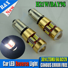 4x VW MK7 GOLF R LED REVERSE LIGHT 270LM H21W BAY9S CANbus 3014 6000K WHITE Bulb