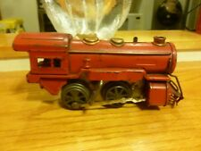 Vintage cast iron No 0 wind up Locomotive. Works great. RED!!! Super!!! Great!!!