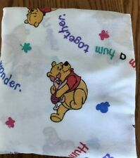 Vintage Winnie The Pooh Crib Sheet Baby Nursery Bedding Fitted One End Flat
