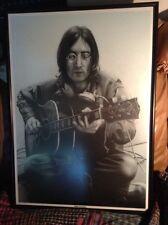 "John Lennon, Gibson, Studio Print Drawing By Alison Brannagan 25"" X 35"" Vintage"