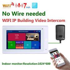 7 Inch Wireless Video Door Phone Doorbell IP Intercom System 1080P AHD Camera
