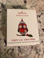 COZY LIL' CRITTERS ~ 1ST ~ Miniature ~ Hallmark Keepsake Ornament ~ 2019 ~ NIB