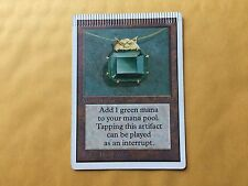 Crimped Unlimited Mox Emerald Misprint MTG Magic Card Power 9 moderate wear