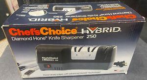 Chef's Choice 250 Hybrid Diamond Hone Knife Sharpener & Manual
