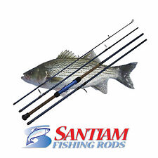 "SANTIAM FISHING RODS 4 PC 11'0"" 17-40LB SURF SPINNING ROD ALASKAN TRAVEL SERIES"