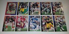 1993 UPPER DECK FUTURE HEROES COMPLETE INSERT SET 10 CARDS EMMITT FAVRE SANDERS