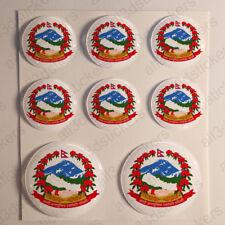 Stickers Népal Armoiries gel en forme de dôme Résine 3D Népal Vinyle Sticker Autocollants Casque