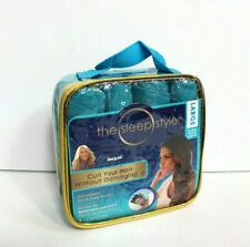 The Sleep Styler Teal Large Hair Rollers For Long Thick Curly Hair
