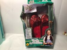 Rubie's Costume Co Wizard of Oz Deluxe  Dorothy Sequin Shoes Red Child sz 10