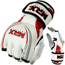MMA Gloves Grappling Boxing UFC Cage Fight Glove Martial arts Equipment, wr, XL
