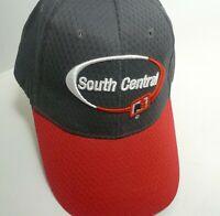 VTG New Farmer Trucker Adjustable Hat Cap South Central FS Gray Red