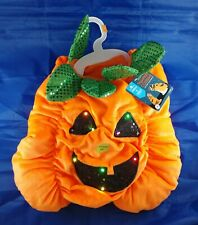 Thrills & Chills Pumpkin Pet Costume for Dog Cat, Halloween Party, LED Lights Up