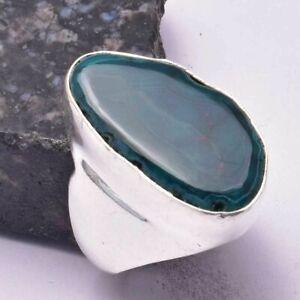 Solar Agate Ethnic Handmade Man's Ring Jewelry US Size-9 AR 34100